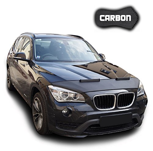 Hood Bra for BMW X1 E84 CARBON Bonnet Car Bra Front End Cover Nose Mask Stoneguard Protector TUNING