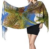 Bufanda de mantón Mujer Chales para, Nature Of Coconut Island Moda para mujer Mantón largo Invierno Cálido Bufanda grande Bufanda de cachemira