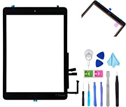 "T Phael Black Digitizer Repair Kit for iPad 9.7"" 2018 iPad 6 6th Gen A1893 A1954 Touch Screen Digitizer Replacement with Home Button + Adhesive + Tools"
