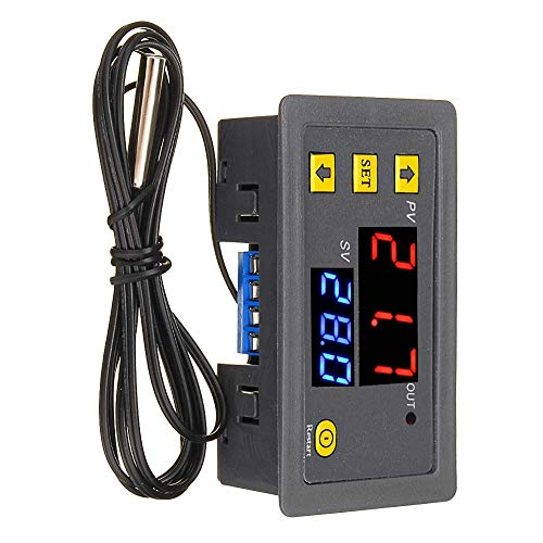 ZLININ Asequible LDTR-DM32 AC110V-220V 10A LED Digital controlador de temperatura Termostato Termómetro Control Interruptor Sensor Medidor