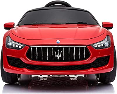 TOBBI Kids Ride On Car Maserati 12V Rechargeable Toy Vehicle w/ MP3 Remote Control Red from TOBBI