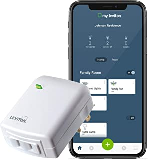 Leviton DW3HL-1BW Decora Smart Wi-Fi Plug-in Dimmer, Works with Amazon Alexa, No Hub Required, 1-Pack, White
