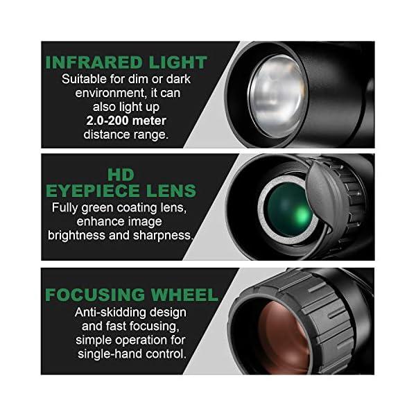 Monocular infrarrojo de visión Nocturna en HD de 8x40 con cámara Digital; reproducción de Video; Salida USB; para Caza y Vida Silvestre. Distancia de visión de 150 m en la Oscuridad; 2