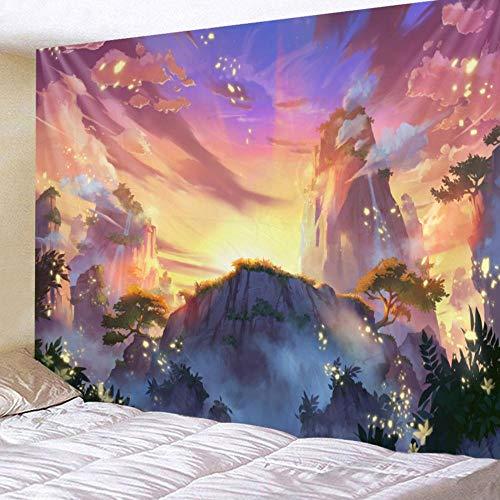 Tapiz Tapiz Colgante de pared Decoración para el hogar Hermoso paisaje Impresión Alfombra de pared 150x100cm