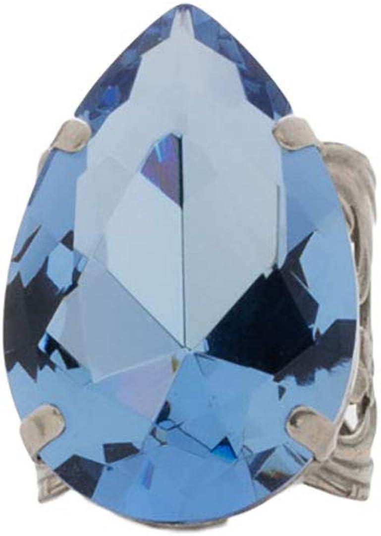 Fresno Mall Sorrelli Trust Teardrop Crystal Cocktail Antique Silver-Tone Fin Ring