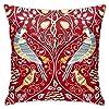 威廉·莫里斯复古花鸟 枕套方标经典复古室内软装饰亲肤的优质沙发卧室车椅房屋派对45x45cm