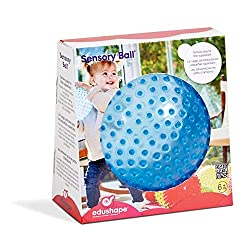 Soft-textured, easy-grip, easy-to catch 18cm diameter Sensory Ball. Perfect first ball for little ones. Delightful nubby texture and bright transulcent colours. Supplied fully inflated but can be re-inflated via a built-in valve. Suitable from 6 mont...