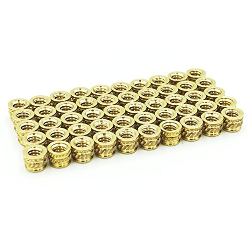 """#4-40 x 0.135"""" Qty 50 Threaded Heat-Set Inserts used for connecting 3D printed and injection molded parts."""