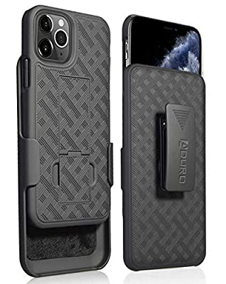 Aduro iPhone 11 Pro MAX (ONLY) Holster Case, Combo Shell & Holster Case - Super Slim Shell Case with Built-in Kickstand, Swivel Belt Clip Holster for Apple iPhone 11 Pro Max (ONLY)