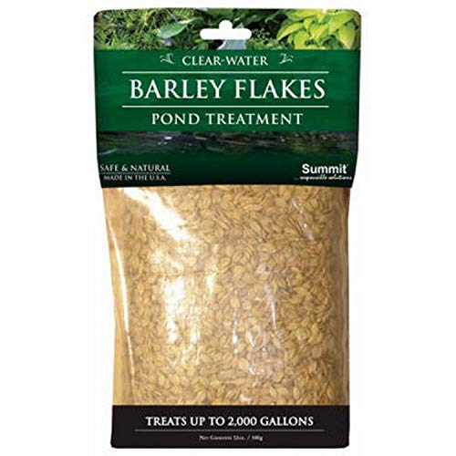 Summit 1151 Clear-Water Barley Flakes Pond Treatment, Treats up to 2000-Gallons