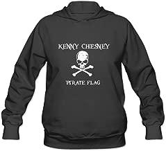 AOPO Kenny Chesney Pirate Flag Women's Long Sleeve Hooded Sweatshirt / Hoodie XX-Large Black