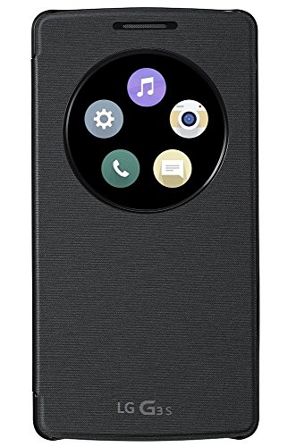 LG Flip Custodia con Finestra Circolare per G3S, Nero