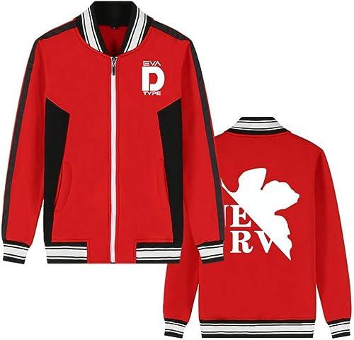 Costume Mobile Gundam Anime Bomber Veste Collège Baseball Vestes Cosplay Costume Zipper Sweat-Shirt Manteau voituredigan (Couleur   rouge 5, Taille   XXS)