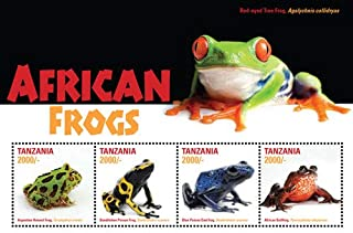 2015 African Frogs, Collectible Sheet of 4 Stamps, Mint Never Hinged