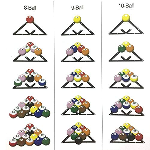 Keenso Billiard Ball Holder Sheet, Billiard Ball Rack Pool Table Ball Triangle Positioning Sheet for 8 9 10 Ball Billiard Table Pool Cue Accessories