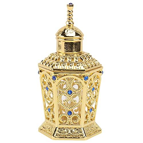 FOMIYES 1 Unidad de Botellas de Perfume Recargables Vacías Botella de Perfume de Cristal de Aleación Delicado Contenedor de Aceite Esencial Estilo Árabe Dubai Hogar Decoración de Mesa