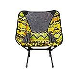 SXLCKJ Silla Mochila Plegable y Liviana, sillón de Playa al Aire Libre, Silla de préstamo Ultraligera de Tubo de Hierro, Color Amarillo, Chai para Acampar (tapete de Playa)