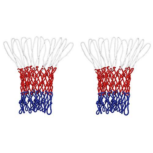 Sienoc Netz für Basketballkorb, Basketball Korb NETZ Ersatznetz Ballnetz 3mm, 12 Schleifen, 3 Farbig (1 Stück )