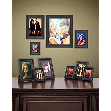 James Scott Black Picture Frames Set of 10 Photo Frame – One 8x10 in, One 5x7 in, Two 4x6 in, Two - 3.5x5 in, Four - 2x3 in, Great Holiday Gift!
