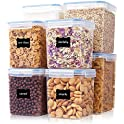 Vtopmart 8-Pieces Large Tall Airtight Food Storage Containers