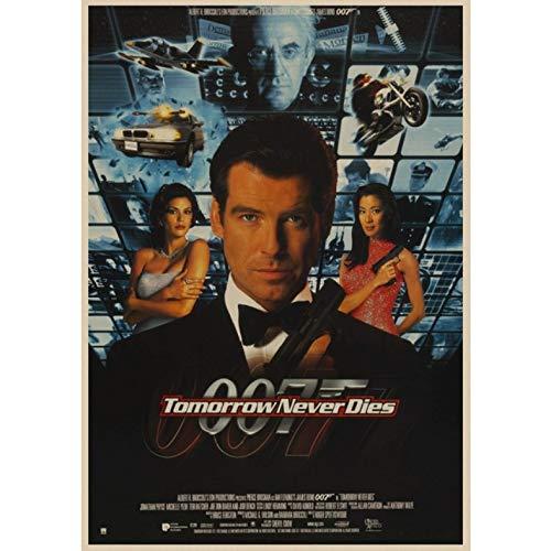 manyaxiaopu James Bond 007 Series Pierce Brosnan Film Classici Arredamento per La Casa Decorazione Carta Kraft Poster Pittura Decorativa A7 50X70Cm