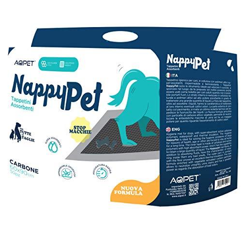 Funhobby Italia Srl Tappetini igienici assorbenti con Carbone Attivo Anti Odore e Anti Macchia per Animali Domestici Pannolini per Cane 60x90 100 pz