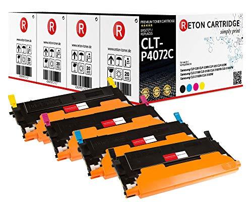 4 Original Reton Toner kompatibel nach (ISO-Norm 19798) ersetzt CLT-P4072C für Samsung CLP-320 CLP-320N CLP-325 CLP-325W Samsung CLX-3180 Samsung CLX-3185 CLX-3185FN CLX-3185FW CLX-3185N CLX-3185W