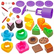 USA Toyz Sand Molds Beach Toys for Kids - 36pk Mini Sandbox Toys for Toddlers, Kids Indoor Outdoor Sand Toy Cupcakes and Cookies Molds Compatible with Any Molding Sand or Foam