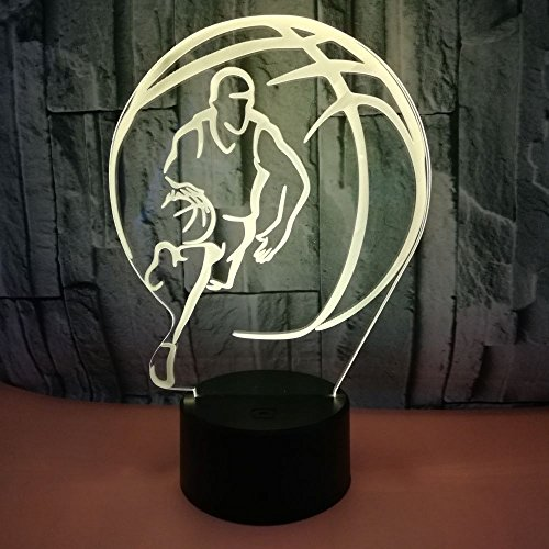 New Basketball Night Light Variable Light Remote Control Touch Switch Room Football Light 3D LED Small Table lamp USB Interface Touch Remote Control Light Colorful Night Light