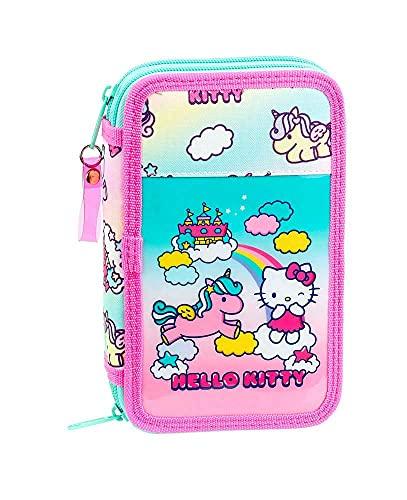 Hello Kitty Candy Unicorns - Astuccio per la scuola ufficiale con 28 pezzi, 125 x 40 x 195...