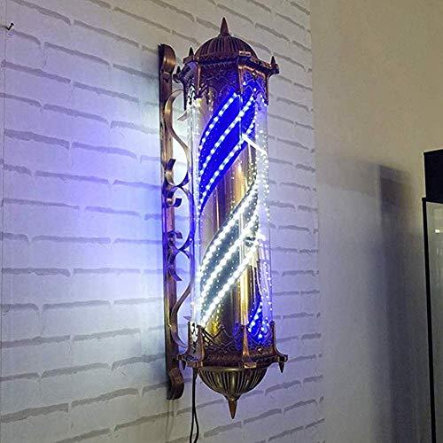 N / A Yuuk% J Barber de Signe de LED Rotating Poteau Gyrophare Red Light White Stripes Bleu imperméable Big 90 cm Lampe Clair Rétro Mur, A,B