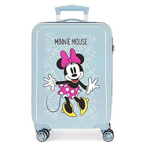 Disney Minnie Enjoy The Day Maleta de Cabina Azul 40x55x20 cms Rígida ABS Cierre combinación 34L 2,8Kgs 4 Ruedas Dobles Equipaje de Mano