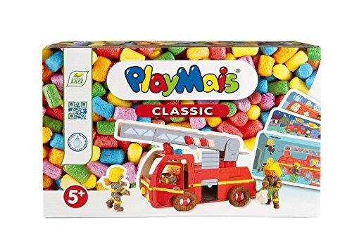 PlayMais FUN TO PLAY Firetruck Bastel-Set für Kinder ab 3 Jahren | Motorik-Spielzeug mit 550 PlayMais, 15 Vorlagen & Anleitung für Feuerwehr | Natürliches Spielzeug | Fördert Kreativität & Feinmotorik