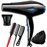 Professional Hair Dryer, 2300W AC-Motor Ionic Hairdryer with Airflow Concentrator, Diffuser Dryer