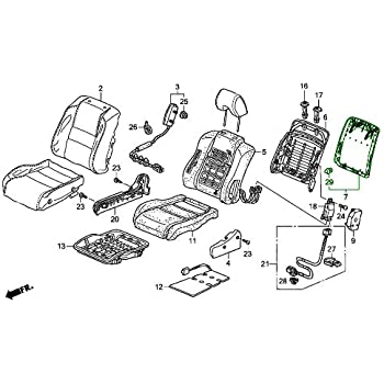 Right Rear Honda Genuine 82151-SDA-L24ZC Seat Back Trim Cover