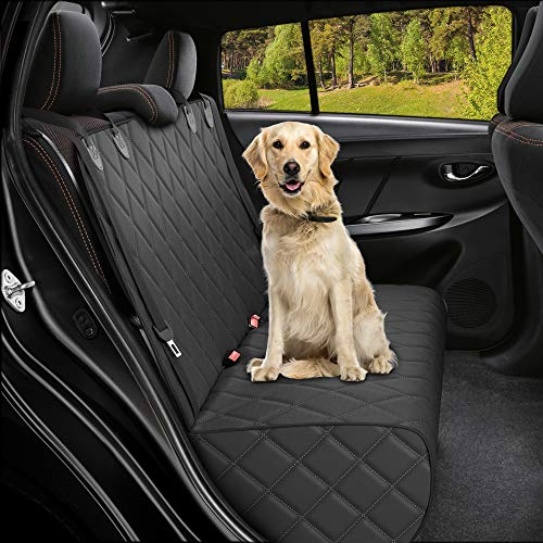 ACTIVE PETS Bench Dog Car Seat Cover for Back Seat, Waterproof Dog Seat Covers for Cars, Durable Scratch Proof Nonslip, Protector For Pet Fur & Mud, Washable Backseat Dog Cover For Cars, Trucks & SUVs