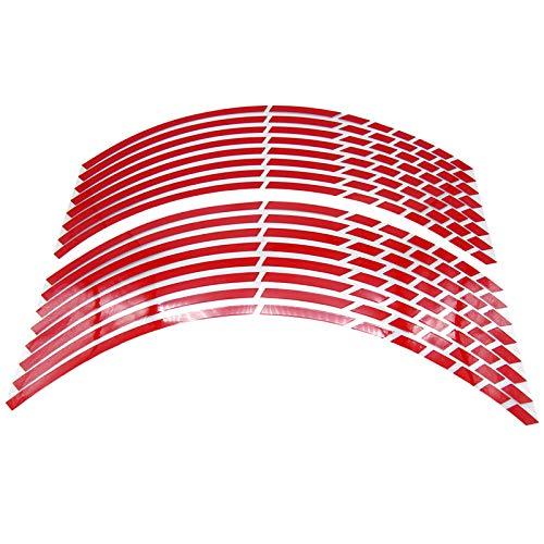 Ltjqsm 17'18' 19'16' Pegatinas de neumáticos de Rueda de automóvil Reflective Rim Moderbike Auto Calcomanías (Color : Red)