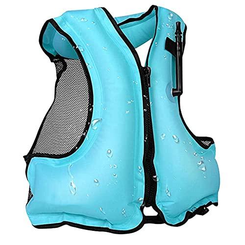ZAYZ Kayak para Adultos Chaquetas de Snorkel con Correas para Las Piernas, Buceo Surf Chaleco Salvavidas para Deportes Acuáticos (Color : Blue, Size : 58x49cm)