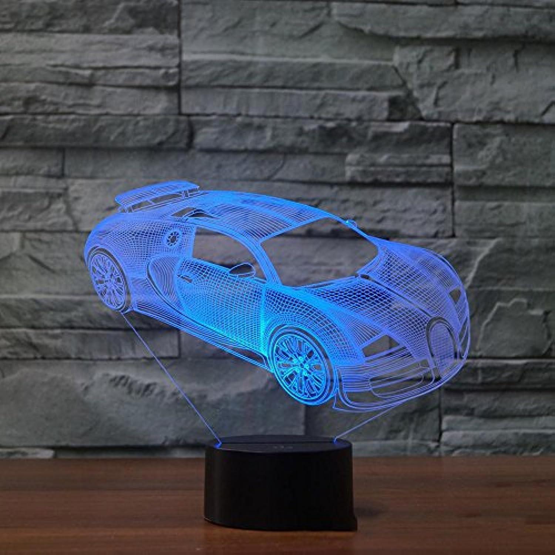 Lozse 3D Nightlights, Auto 5 Fernbedienung 3D-Lichter bunten Touch-LED sichtbares Licht Atmosphre dekorative Tischlampe, Bestees Geschenk für Freunde Kinder