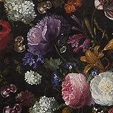 SCHÖNER LEBEN. Samtstoff Dekostoff Velvet Samt Blumen