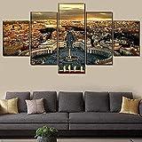 cuadro en lienzo impresión de 5 piezas - Enmarcado y listo para colgar Italia Roma Vaticano PinturasDecoración del hogar Decoración de la pared Obra 150x80 cm