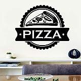 BailongXiao Papel Pintado clásico de la Etiqueta de la Pared de la Cocina del Vinilo de la Pizza para los murales de la decoración de la habitación de los niños