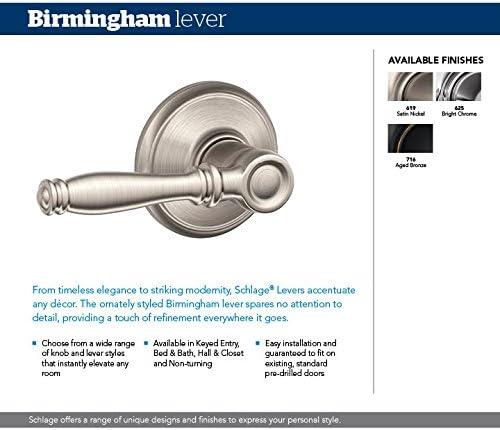 Schlage Birmingham Lever Non Turning Lock Aged Bronze F170 Bir 716 Amazon Com
