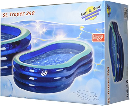 Sunsea Unisex Badebecken St'tropez 240 Pool, blau/Mint, 243 x 152 x 53 cm