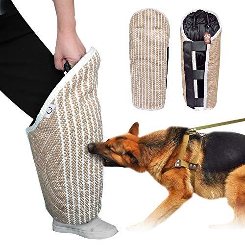 PET ARTIST Professional Jute Puppy Dog Training Bite Leg Sleeves with Handle for Training Work Dog Puppy,Leg Training Sleeves Fit Malinois Police K9 German Shepherd Mastiff