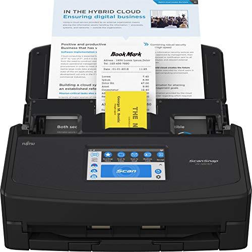 Fujitsu ScanSnap iX1600 Versatile Cloud Enabled Document Scanner for Mac or PC, Black