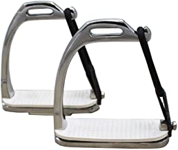 Derby Originals Peacock Safety Stainless Steel Stirrup Irons with Rubber Pads