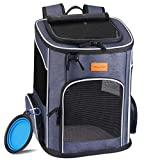 morpilot Dog Backpack Carrier, Foldable Cat Carrier Backpack for Small Cats and Dogs, Ventilated Design Pet...
