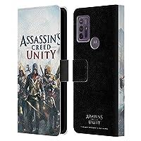 Head Case Designs オフィシャル ライセンス商品 Assassin's Creed フレンチ・ブラザーフッド Unity キーアート Motorola Moto G10 / Moto G30 専用レザーブックウォレット カバーケース