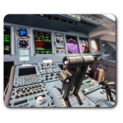 Komfortables Mauspad – Flugzeug Cockpit Guages Flugzeug Pilot 23,5 x 19,6 cm (9,3 x 7,7 Zoll) für Computer und Laptop, Büro, Geschenk, rutschfeste Unterseite – RM16332